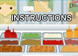 restaurant, fastfood, serveuse