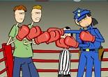 siamois, gants,boxeur, sportif, boxe