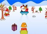 Père Noël, luge, cadeaux
