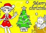 coloriage, Noël, enfant, colorier, couleurs