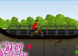 Bmx, vélo, half-pipe, rampe, sport
