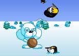 lancer, tir, précision, pingouin