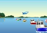 bateau, course, hors-bord