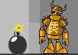 bombe, robot, casse tête, boulet de canon