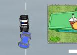 poursuite, course, voiture de police