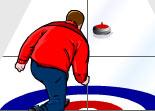 curling, palet, lancer, sport
