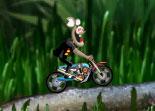 moto, free style, souris, trial