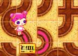 Sue, labyrinthe, fille, puzzle, réflexion