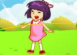 fille, corde à sauter, saut, animaux, réflexe