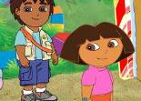 Dora, observation, alphabet, objets cachés