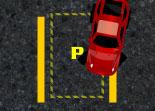 voiture, créneau, stationnement, parking