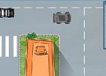 voiture, police, poursuite