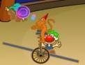 rigolo, clown, cirque, adresse, singe