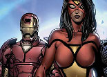 puzzle, Iron Man, Avengers, observation ,Wolverin, Captain America, Veuve Noire, Spiderman, héros