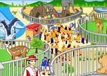 zoo, tir, singe, animaux