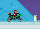 Père Noël, moto cross, Santa, cadeaux, bécane, 2 roues