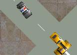 police, sheriff, course poursuite, voiture, course en ville