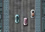poursuite, course en ville, voiture