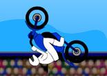cascade, moto cross, saut