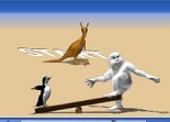 distance, yéti, pingouin