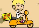 garçon pizza, scooter, livreur, 2 roues, scoot