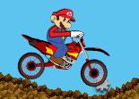 Mario, super cross, motocross, bécane, nintendo