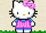 Hello Kitty, broderie, fille
