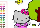 Hello Kitty, coloriage, fille