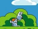 plateforme, oeufs de Pâques, lapin, poule