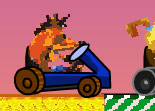 Crash Bandicoot, kart, course, karting, voiture