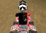 quad, course, moto à 4 roues, ATV, 3D