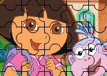 Dora, Babouche, école, puzzle