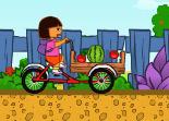 Dora, conduite, vélo, tricycle