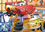 Luigi, Flash McQueen, Guido, Cars, puzzle