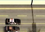 course poursuite, conduite, police, tir, voiture