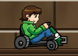 Ben 10, kart, voiture, karting, course