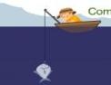 Pêche à la ligne, poisson, pêcheur, pêche.