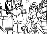 Cendrillon, coloriage, dessin, princesse