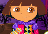 Halloween, Dora, habillage, déguisement, fille