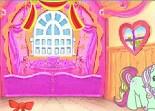 Poney, décoration, fille