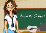 école, maîtresse, habillage, fille