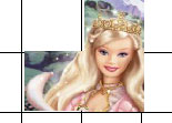 fille, barbie, puzzle, observation