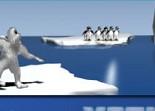 distance, sport, yéti, pingouin