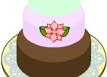 gâteau, mariage, décoration, fille