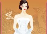 mariage, habillage, wedding, fille