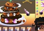 gâteau, pâtisserie, halloween, décoration