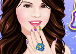 star,  manucure, beauté, Selena Gomez, ongles, nails