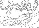 Jane, Tok, Tarzan, coloriage, dessin