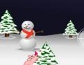 tir, tireur, tirer, action, neige, boule de neige, père Noël, cadeaux