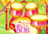 Sue, batterie, musique, instrument